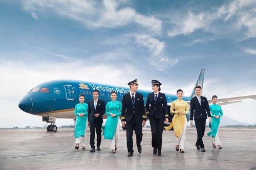 Vietnam Airlines, logo, sen vàng, dịch vụ, 4 sao, tiện ích, lĩnh vực