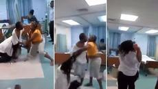 Oái oăm vợ và bồ choảng nhau giữa bệnh viện