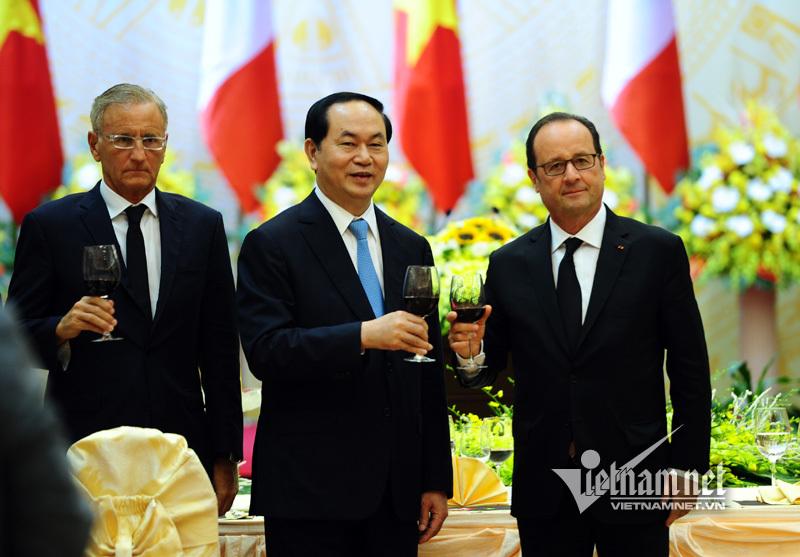 Chủ tịch nước Trần Đại Quang, tiệc chiêu đãi nhà nước, Tổng thống Pháp François Hollande