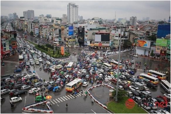 Hà Nội, Sài Gòn, TP. HCM, tắc đường, ùn tắc giao thông, vạch kẻ mắt võng, ô tô, xe máy, vi phạm giao thông