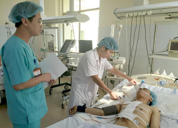 đâm xuyên tim, thủng tim, Bệnh viện 108, dị vật