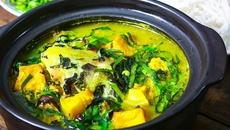 Thơm nức bếp cuối tuần: Cá lăng om chuối đậu