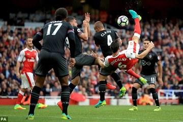 Video bàn thắng Arsenal 2-1 Southampton