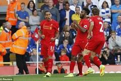 Hàng công bùng nổ, Liverpool đè bẹp ĐKVĐ Leicester
