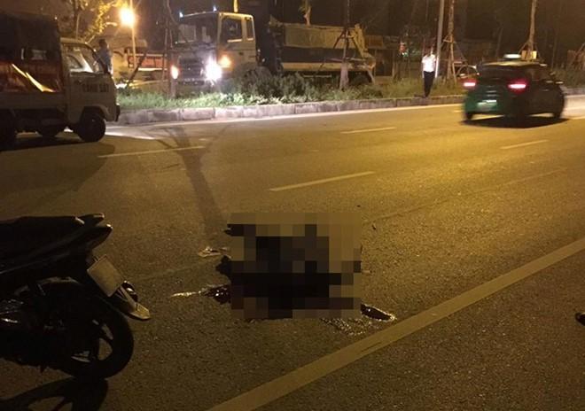trung úy công an, bị xe đâm, tử vong, Hà Nội