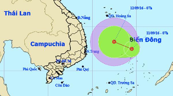 áp thấp nhiệt đới, dự báo thời tiết, tin thời tiết trong ngày, tin thời tiết