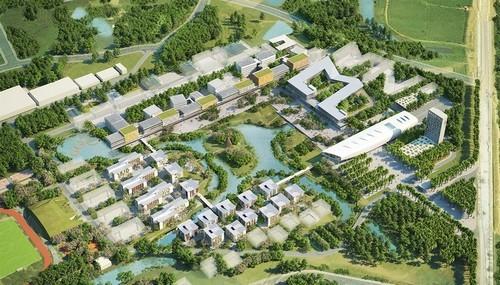 Dự án trường đại học xanh xuất hiện nổi bật trên báo ngoại
