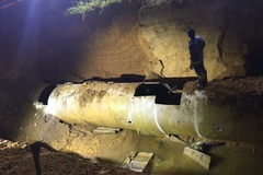 Đường ống nước sông Đà gặp sự cố lần thứ 19