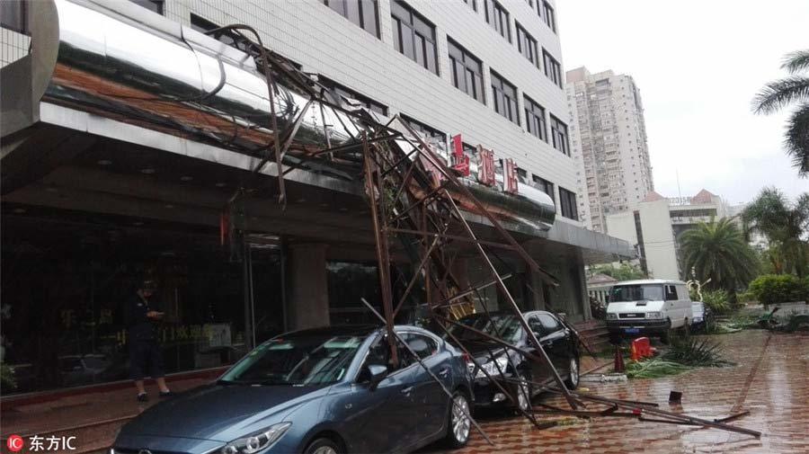 Siêu bão Meranti tàn phá Trung Quốc