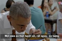 Xem Obama ăn bún chả thành thục như người Việt