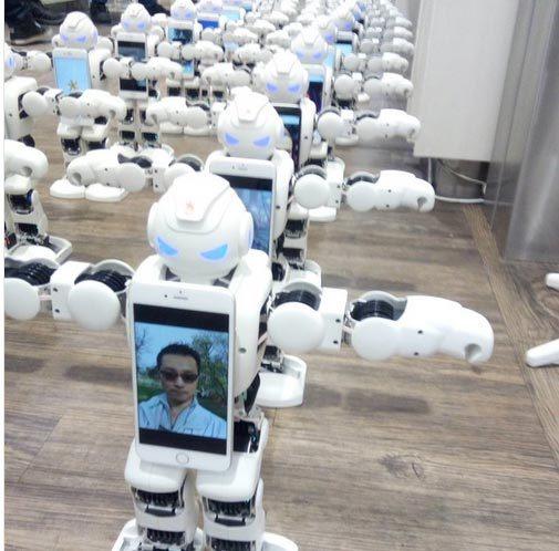 iPhone 7, robot thế thân, xếp hàng, Apple, New Zealand