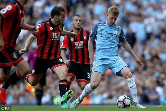 Video bàn thắng Man City 4-0 Bournemouth
