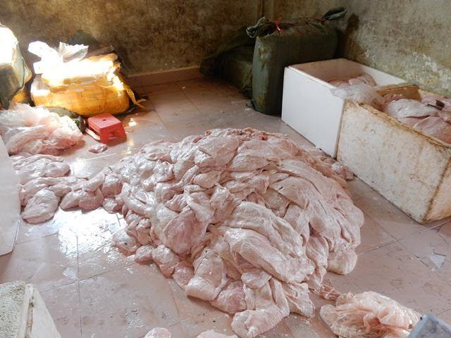 Biệt thự ở Sài Gòn chứa hơn 2 tấn nầm heo sữa TQ