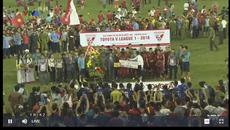 CĐV Hải Phòng tràn xuống sân mừng đội nhà...thua trận