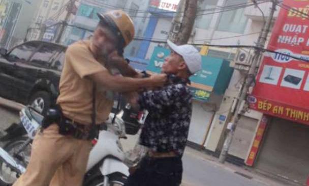 CSGT bị đánh, vi phạm luật giao thông