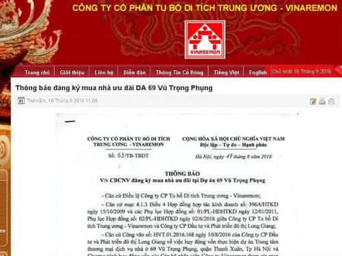 Dự án Rivera Park Hà Nội, dự án chung cư 69 Vũ Trọng Phụng, Long Giang Land