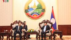 Bộ trưởng Bộ TT&TT Trương Minh Tuấn tiếp kiến Thủ tướng Lào