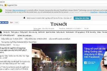 Website báo Người đưa tin, Đời sống pháp luật, TechZ bị hack
