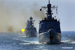 Hình ảnh Nga-Trung tập trận quy mô lớn ở Biển Đông