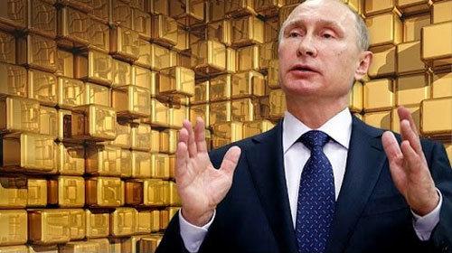 Vàng xuống đáy, Putin tăng tốc gom: Đối phó với nguy cơ