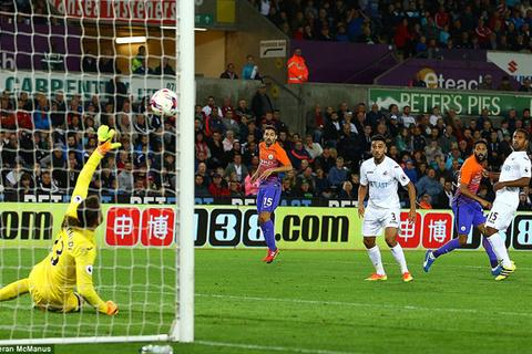 Video bàn thắng Swansea 1-2 Man City