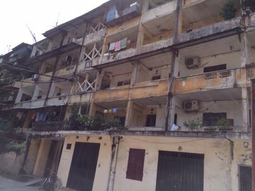 khu tập thể chờ sập, chung cư A7 Tân Mai, chung cư nguy hiểm