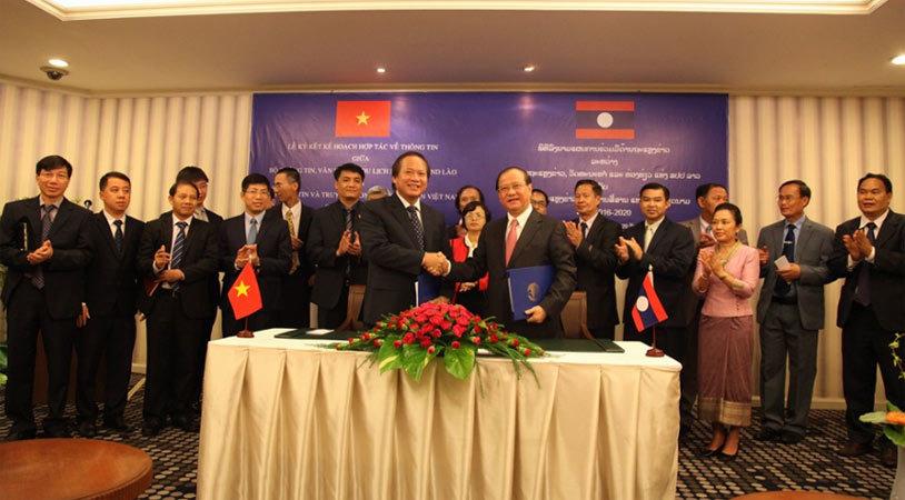Việt Nam - Lào đẩy mạnh hợp tác trao đổi thông tin
