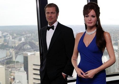 Tượng sáp của Brad Pitt và Angelina Jolie bị tách khỏi nhau