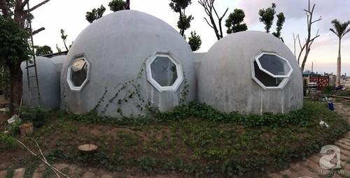 ngôi nhà phủ đầy cây xanh, ngôi nhà bố làm cho con trai, ngôi nhà hình tròn