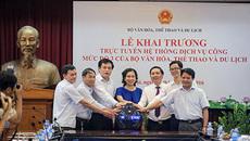 Bộ Văn VHTT&DL ra mắt website dịch vụ công trực tuyến