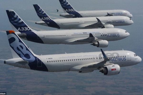 Xem loạt phi cơ Airbus biểu diễn ấn tượng trên trời