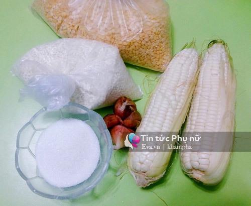 học nấu ăn, cách làm xôi ngô đậu xanh, xôi bắp đậu xanh, món ăn ngon