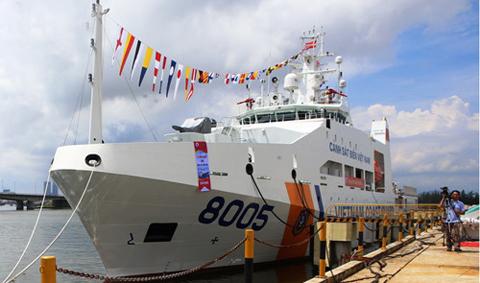 cảnh sát biển, CSB 8005, tàu có sân đỗ trực thăng, tàu cảnh sát biển