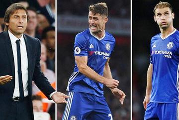 """Conte điên tiết, """"trảm"""" 2 hậu vệ cứng của Chelsea"""