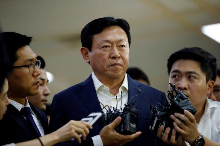 lotte, tập đoàn lotte, chủ tịch tập đoàn lotte, ông Shin Dong-bin