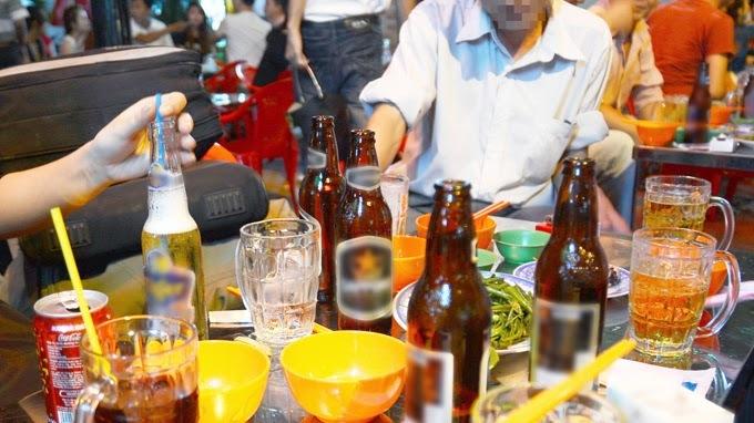rượu bia, tác hại rượu bia, luật phòng chống tác hại rượu bia