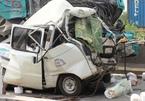 5 xe tông nhau trên cầu Phú Mỹ, tài xế chết trong ca bin