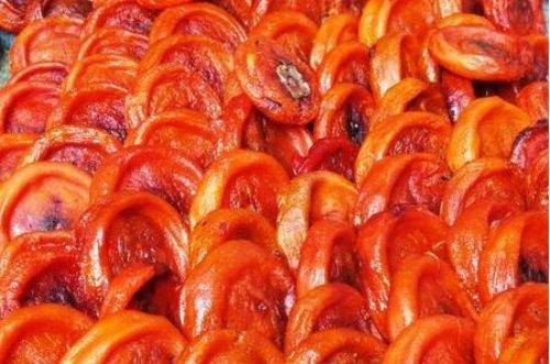 Hồng dẻo, ăn vặt ưa, món ăn, sữa chua, hồng ngâm, chị em