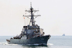 Tàu khu trục tên lửa Mỹ đến Đà Nẵng