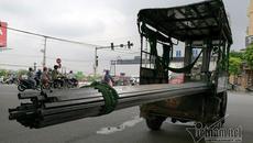 Hà Nội: Mở đợt cao điểm xử xe chở hàng cồng kềnh