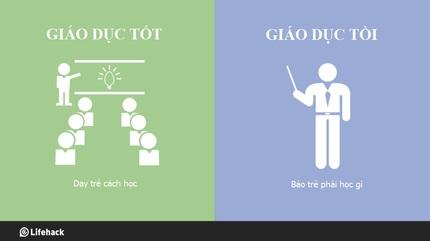 8 khác biệt giữa giáo dục tốt và giáo dục tồi