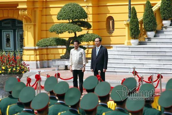 Lễ đón Tổng thống Philippines tại Phủ Chủ tịch