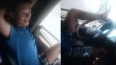 Nam thanh niên lái xe tải bằng… chân gây xôn xao