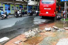 Xe khách 'đại náo' trung tâm Sài Gòn, du khách tháo chạy