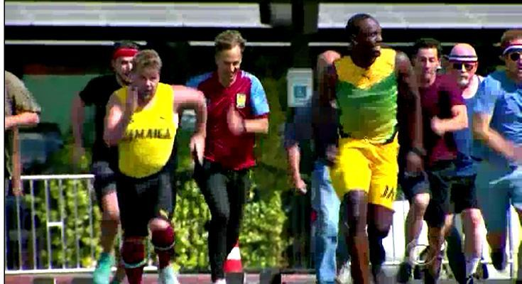 """Sao Hollywood chạy đua 100m với Usain Bolt và cái kết """"đắng lòng"""""""