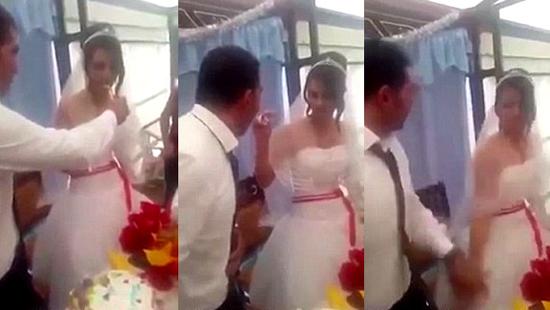 10 clip nóng: Cô dâu bị tát vì đùa chồng quá trớn
