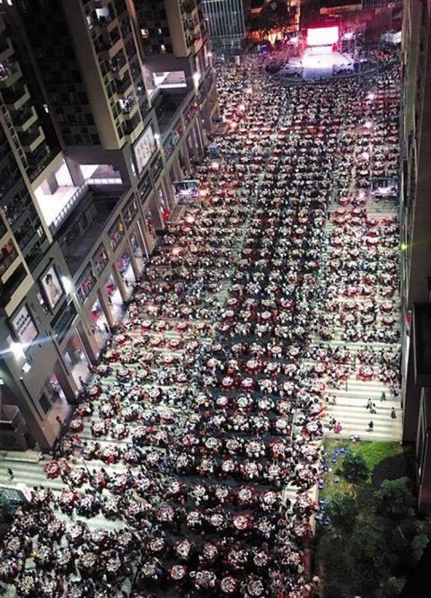 Choáng đại tiệc mừng tân gia 1.500 mâm cỗ