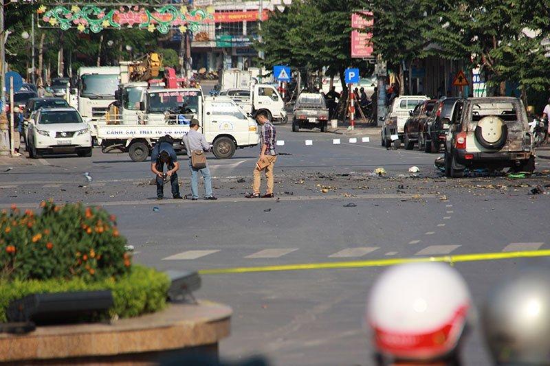 Nổ taxi ở Quảng Ninh: Hành khách tự tử bằng mìn tự tạo