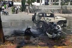 Vụ nổ taxi 2 người chết: Dây kíp nổ trong tay hành khách