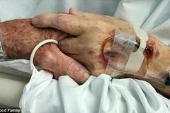 Cái nắm tay cuối cùng của cặp vợ chồng già